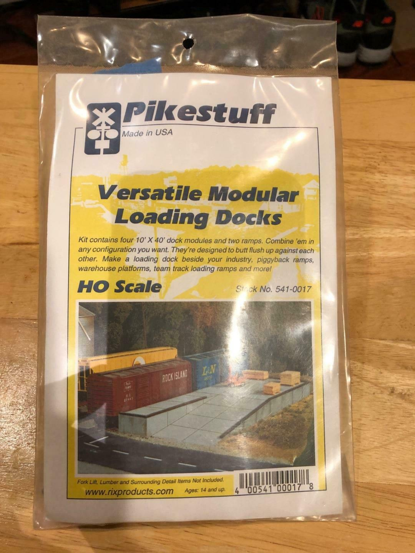 Pikestuff HO Scale 541-0017 Versatile Modular Loading Docks Kit