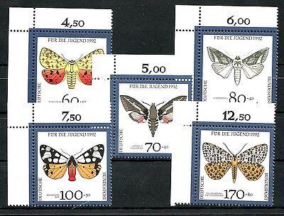 Germany BRD Bund Mi 1602-1606 ** Jugend 1992 Schmetterlinge ECKE 1