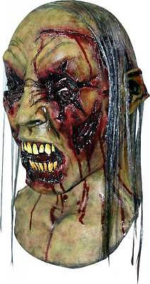 MENS EVIL DEAD ZOMBIE ADULT SCARY OVERHEAD LATEX RUBBER MASK NECK NEW HALLOWEEN