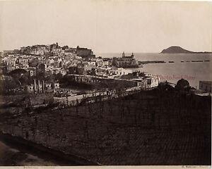 Italia Puzzuoli Foto Sommer Napoli Albume D'Uovo Vintage Ca 1875
