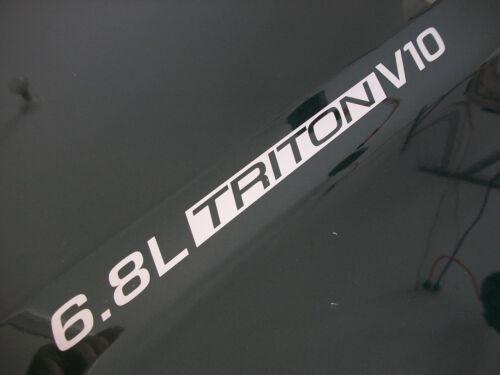 pair 6.8L Triton V10 Hood decals sticker emblem Ford F250 F350 SD Excursion