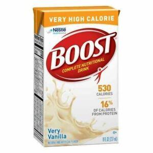 Nestle Boost Very High Calorie (VHC), Very Vanilla, 8 oz Carton, Case/24