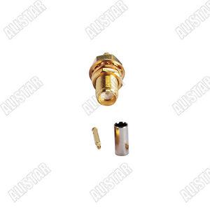 10x Connector RP-SMA Female Plug Bulkhead Crimp RG174 RG316
