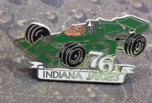 Indiana Jaycees Green Indy Race car vintage pin badge