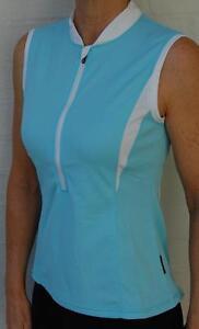 Cycling-Bike-Jersey-Top-sleeveless-Women-Ladies-Light-Blue-Jaggad-S-M-L