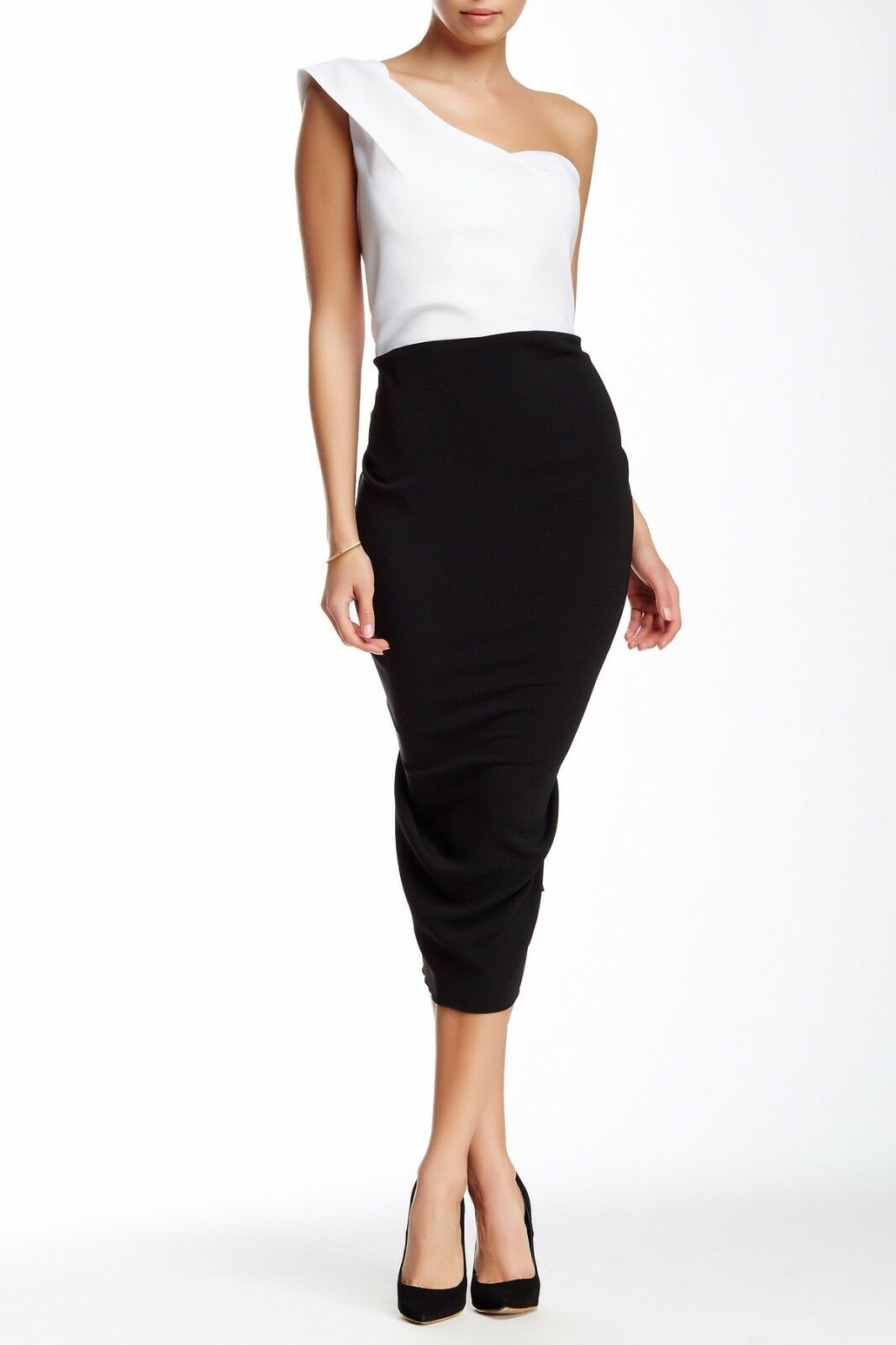 Issue New York Ruffled One-Shoulder One-Shoulder One-Shoulder Dress Sz M fabfbc