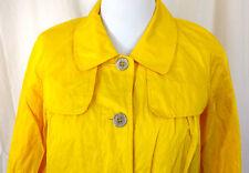 NWT-Women's Size L Lemon Yellow Two Pocket Gun Flap Style Spring Jacket Blazer