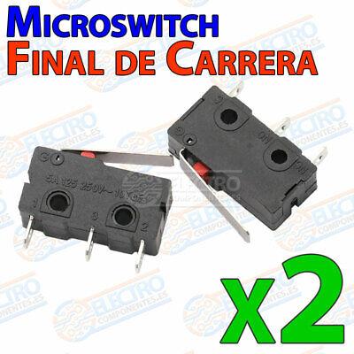 Huayue 20Pcs Micro Interruptor Final de Carrera Microinterruptor de Palanca 5A 250V Interruptor de Palanca de Rodillo Micro Interruptor 3 Pines para Arduino