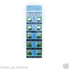10 X AG13 Alkaline 357A CX44 LR44W A76 L1154 1.55V Button Coin Cells Batteries