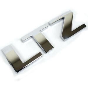 Chrome chevrolet ltz metal emblem oem single letters for for Chevy chrome letters