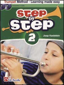 Étape Par étape 2 Trumpet Sheet Music Book/2cds Apprendre à Jouer Méthode-afficher Le Titre D'origine