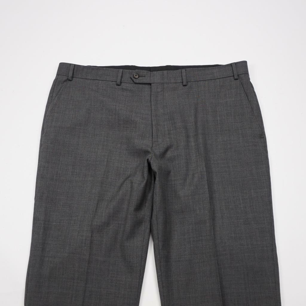 LAUREN Ralph Lauren Flat Front Wool Dress Pants Charcoal Mens 40x30