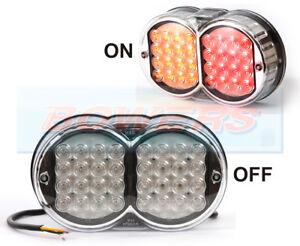 WAS-W41-12V-24V-UNIVERSAL-LED-CHROME-REAR-COMBINATION-TAIL-LIGHT-LAMP-KIT-CAR