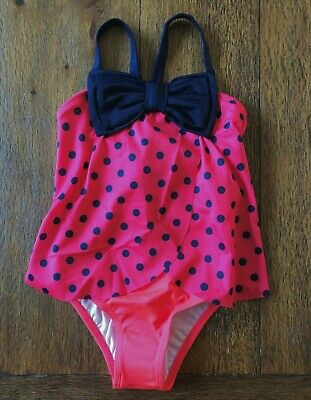 Gymboree Ladybug Swimsuit Bow Polka Dots 3T 4T NWT