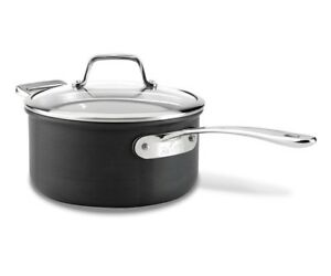 All Clad B1 Hard Anodized Nonstick 3 Quart Saucepan With