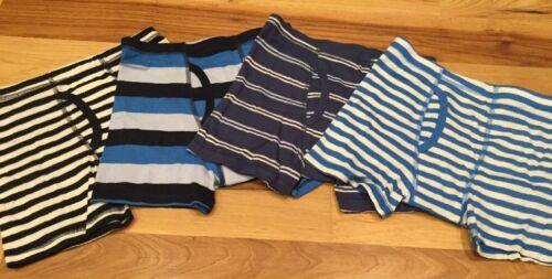 Gap Kids Boy Set Of 4 X-Small 4-5 Boxer Brief Blue White Striped Underwear Nwt