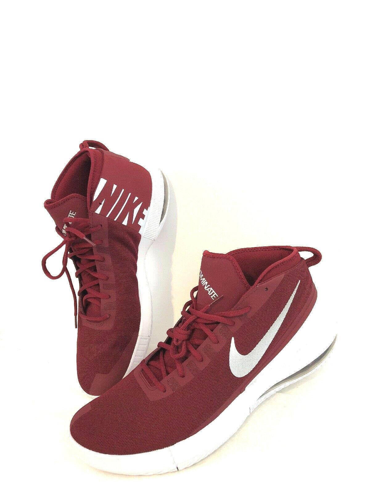 Nike AirMax Dominate Men's 942520-602 Basketball shoes Burgundy SIZE 17