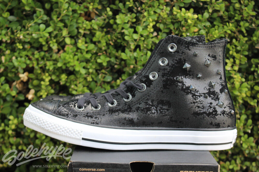 CONVERSE ALL STAR CHUCK TAYLOR Damenschuhe CT HAWRDWARE HI SZ 9.5 BLACK WEISS 549630C