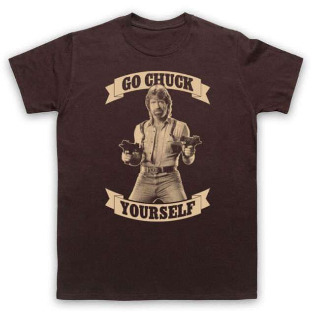 CHUCK NORRIS UNOFFICIAL GO CHUCK YOURSELF FUNNY T-SHIRT MENS LADIES KIDS SIZES