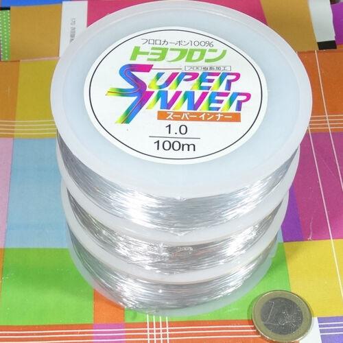 1 Carrete Hilo Elástico de Silicona 1mm x 100 Metros Rubber Elastic Fio Filo