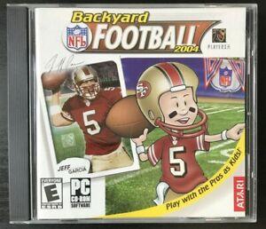 Backyard Football 2004 PC CD-ROM Jeff Garcia 49ers Cover ...