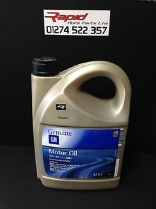 5w 30 genuine gm vauxhall bmw fully syn engine motor oil 5l dexos 2 oil ebay. Black Bedroom Furniture Sets. Home Design Ideas