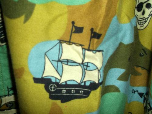 NEW XL NICK /& NORA FLANNEL PAJAMA SET SHARKS /& TREASURE /& SAILING SHIPS /& PIRATE