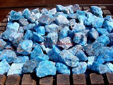Natural BLUE APATITE - 2000 CARAT Lots - Gemstone Rough Rock - Plus Free Gifts