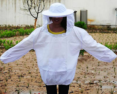 Bee Professional Equipment Coat Suit Beekeeping Jacket Protective Veil Smock