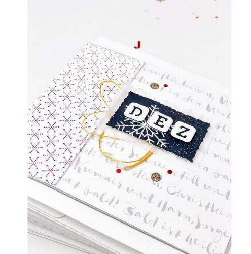 Letters Metal Cutting Dies Scrapbooking Album Paper Making Decorative Diecut DIY