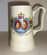 1983 Royal Visit Queen Prince Cayman Islands Weatherby Souvenir Stein ships free