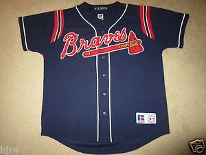 timeless design 160d2 9080a Details about Greg Maddux #31 Atlanta Braves Russell Athletic MLB Jersey M  Med Medium