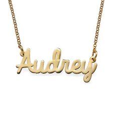 Collar de nombre personalizado personalizado en chapado en oro 18k o Plata Esterlina