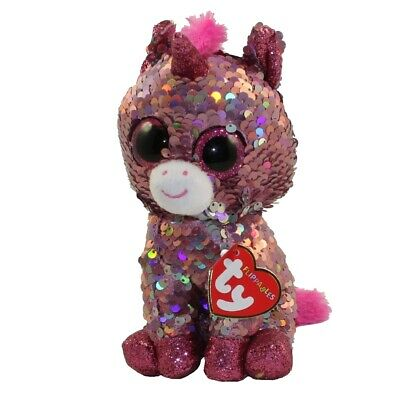 """TY Beanie Boos Flippables 6/"""" SLUSH the Color Changing Sequins Husky Plush MWMTs"""