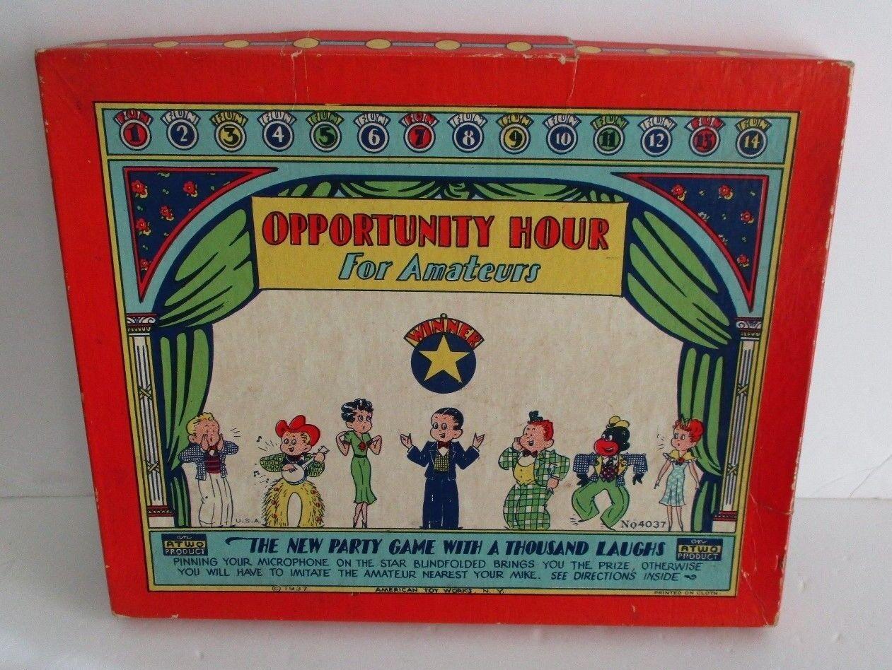 1937 American Toy Works oportunidad hora para aficionados Fiesta Juego