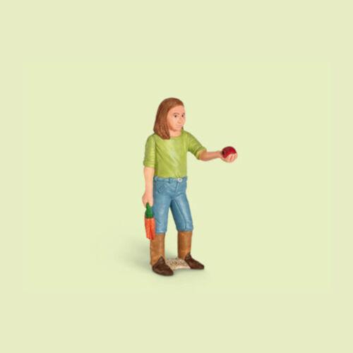 """Schleich-Nuovo con banderuole-NEW with tag!!! /"""" Girl Feeding/"""" /""""ragazza fütternd/"""" 13464"""