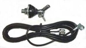 CB-Radio-Antenna-Mount-DV-DV27-Adjustable-Base-4M-RG58-amp-PL259-3-8-Fitting
