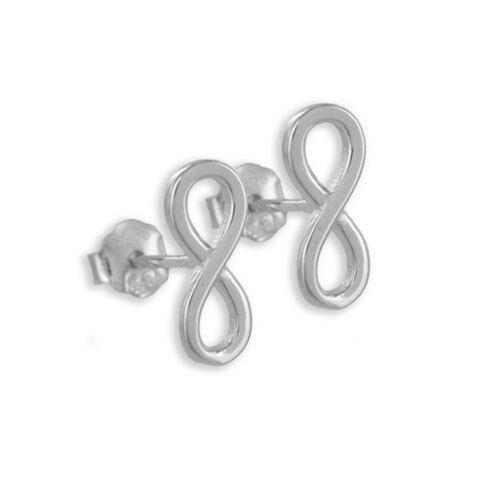 Infinito calidad de joyas pendientes genuino plata 925//000