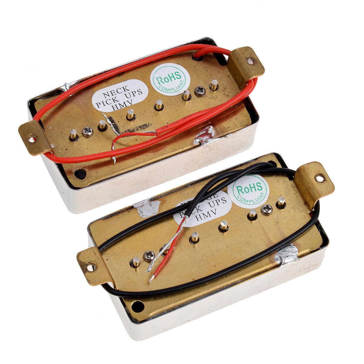 2 single coil pickups bridge neck set for electric guitar red pearl 634458672719 ebay. Black Bedroom Furniture Sets. Home Design Ideas