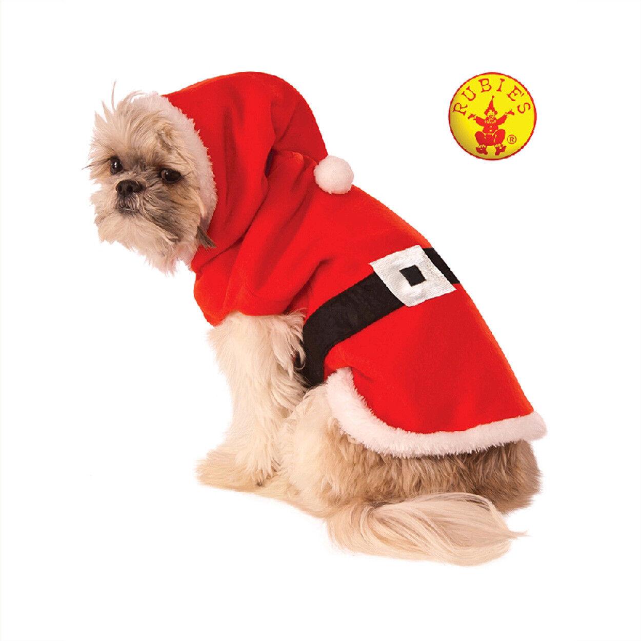 Pet Costume Santa Claus Christmas Xmas Jumpsuit & Hat Dog Cat Fancy Dress XL XXL