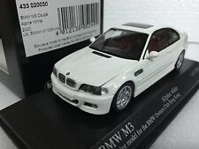 1/43 MINICHAMPS BMW E46 M3 COUPE ALPINE WHITE OWNER'S CLUB model car FREE SHIP