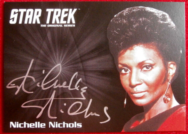 STAR TREK TOS 50th - NICHELLE NICHOLS, Lt. Uhura - VERY LIMITED Autograph Card