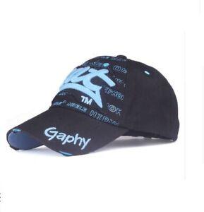 Casquette-de-baseball-bat-gaphy-reglable-NEUF-noir-bleu