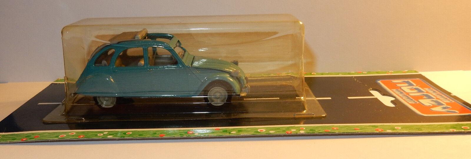 OLD NOREV JET CAR MADE IN FRANCE FRANCE FRANCE 1985 CITROEN 2CV 1974 1981 bluee 1 43 blister a8eb63