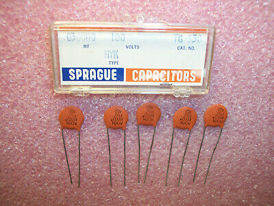Qty 50 Ceramic Disc Cap 30pf 50V  **NEW** Thompson Capacitor .00003uF   .03nF