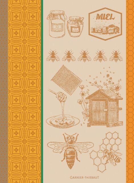 Garnier Thiebaut Jacquard Kitchen Towel Frenchy MIEL ET ABEILLES Honey Bee $23.5