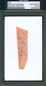 Fred Hutchinson Psa/dna Hand Signed 3x5 Index Card Cut Authentic Autograph