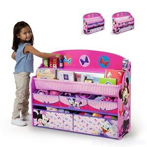 Image is loading Delta-Children-Deluxe-Book-&-Toy-Organizer-Disney-  sc 1 st  eBay & Delta Children Deluxe Book u0026 Toy Organizer Disney Minnie Mouse Kids ...