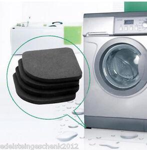 4Stk-Antirutschmatte-Waschmaschine-Unterlage-Gummipads-Antivibration-Schwarz-CH