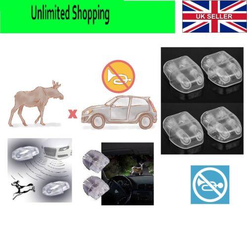 SET OF 2 CAR VEHICLE ANIMAL ALERT WHISTLING WARNING DEVICE FOX DEER HORSE ETC